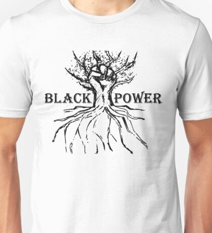 Black Power Rooted Fist Tree Unisex T-Shirt