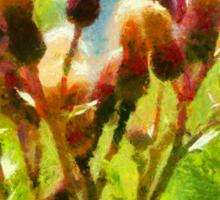 Bunch of flowers under a shining sun Sticker