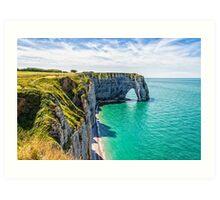 Etretat cliffs Art Print