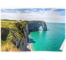 Etretat cliffs Poster