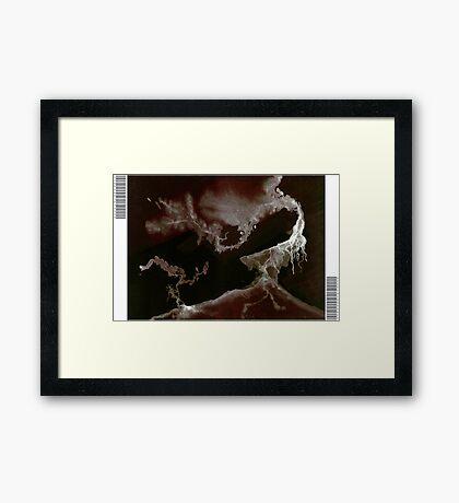 0010 - Brush and Ink - Left Bordered Framed Print