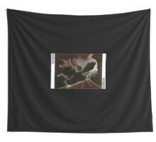 0010 - Brush and Ink - Left Bordered Wall Tapestry