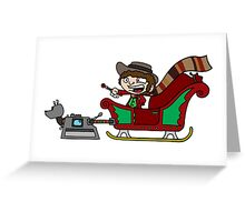 Timelord Santa! Greeting Card