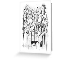 Jon Snow and Ghost Amongst Crows Greeting Card