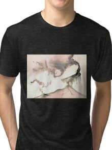 0011 - Brush and Ink - Left Tri-blend T-Shirt