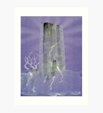 0012 - Brush and Ink - Monolith Art Print