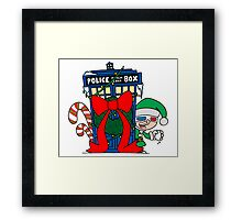 Snowball Fight with the Doctor! Framed Print
