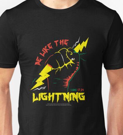 Be Like The LIGHTNING (Luke 17:24) color Unisex T-Shirt