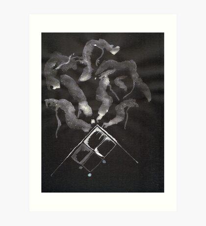 0014 - Brush and Ink - Slate Art Print