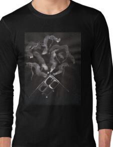 0014 - Brush and Ink - Slate Long Sleeve T-Shirt