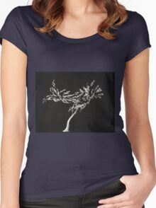 0016 - Brush and Ink - Tree Women's Fitted Scoop T-Shirt