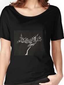 0016 - Brush and Ink - Tree Women's Relaxed Fit T-Shirt