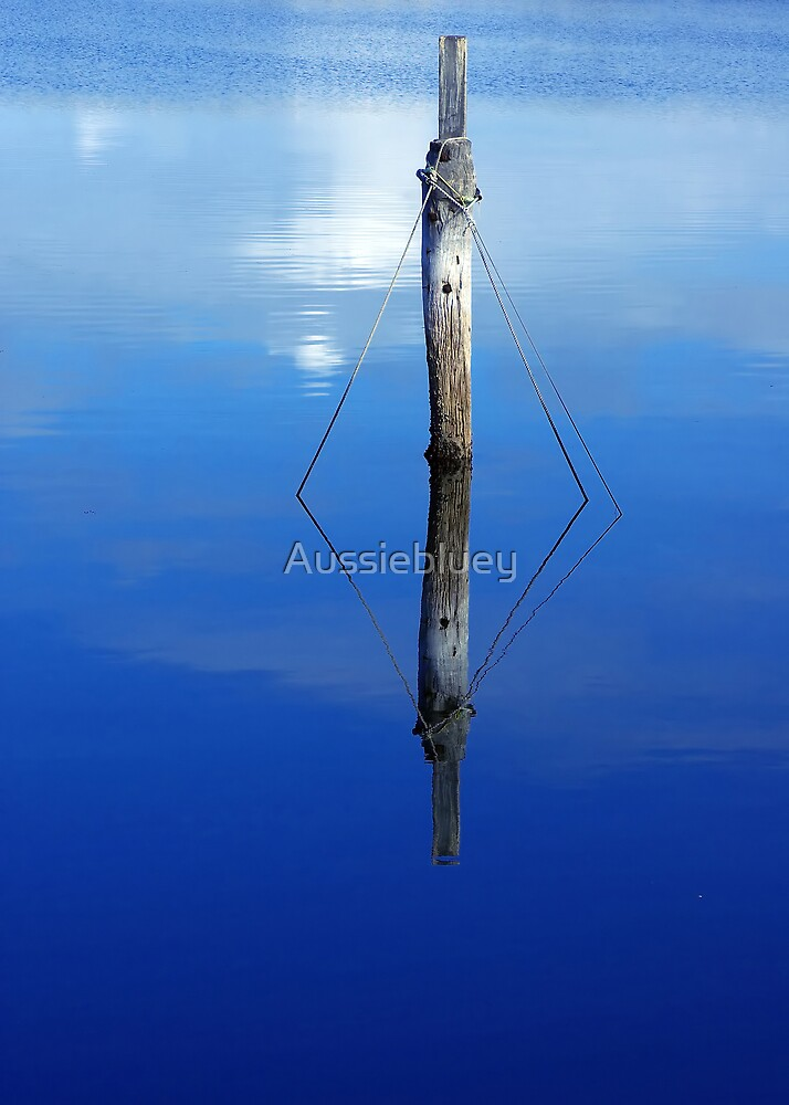 Blue Poles. by Aussiebluey