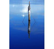 Blue Poles. Photographic Print