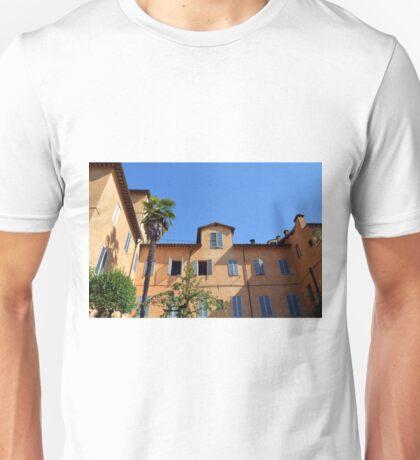 Italian orange building with blue window shutters Unisex T-Shirt