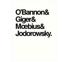 Jodorowsky's Dune - O'Bannon, Giger, Moebius and Jodorowski Art Print