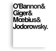 Jodorowsky's Dune - O'Bannon, Giger, Moebius and Jodorowski Metal Print