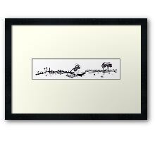 0019 - Brush and Ink - Old Farmstead Framed Print