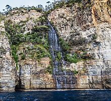 Tasman Island Waterfall, Tasmania by Russell Charters
