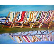 beach chairs  Photographic Print