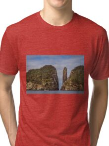Tasman Island Totem Pole, Tasmania Tri-blend T-Shirt