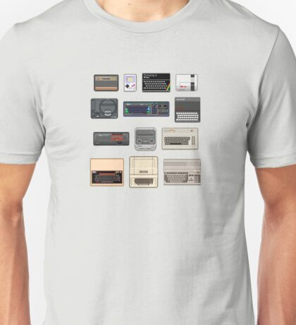 Pixel Retro Gaming Machines Unisex T-Shirt