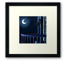 View on a moon from a balcony Framed Print