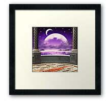 View on a moon from a balcony 2 Framed Print