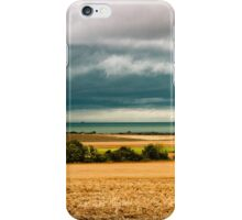 Sky, sea and fields iPhone Case/Skin