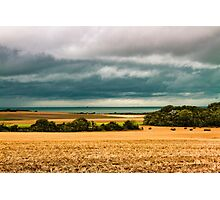 Sky, sea and fields Photographic Print