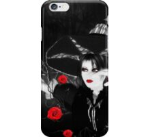 Witch with roses iPhone Case/Skin