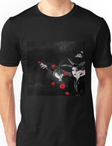 Witch with roses Unisex T-Shirt