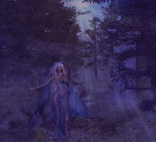 Woman in the foggy forest by AnnArtshock