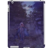 Woman in the foggy forest iPad Case/Skin
