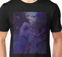 Woman in the foggy forest 2 Unisex T-Shirt