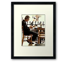 The Late Afternoon Reader Framed Print