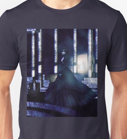 Woman on balcony 2 Unisex T-Shirt