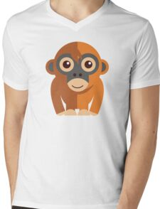 Funny cartoon monkey Mens V-Neck T-Shirt