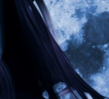 Woman and blue moon Sticker