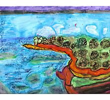 Water by Land Painting Pastel Photographic Print
