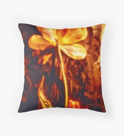 Dried tulip Throw Pillow