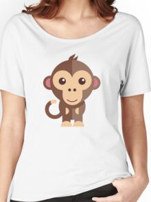 Cute cartoon monkey Women's Relaxed Fit T-Shirt