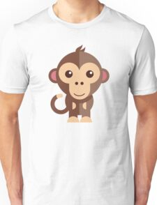 Cute cartoon monkey Unisex T-Shirt