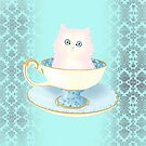 Teacup Cat by CatAstrophe