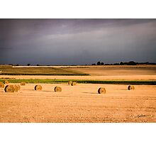 Harvest in summertime Photographic Print