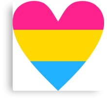 Pansexual heart Canvas Print