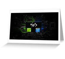 GeForce + Core i7 + Steam Greeting Card