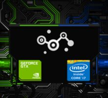 GeForce + Core i7 + Steam Sticker