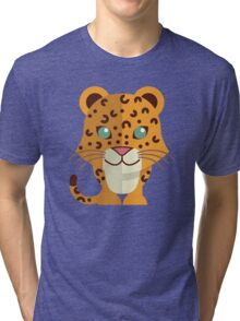 Cute cartoon cheetah Tri-blend T-Shirt