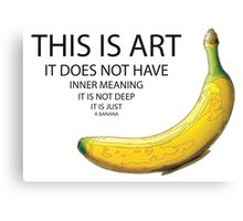 The Really Quite Dull Banana Canvas Print
